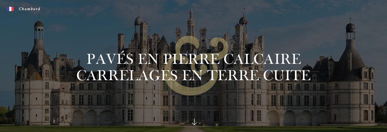 pavés et carrelages anciens au château de Chambord