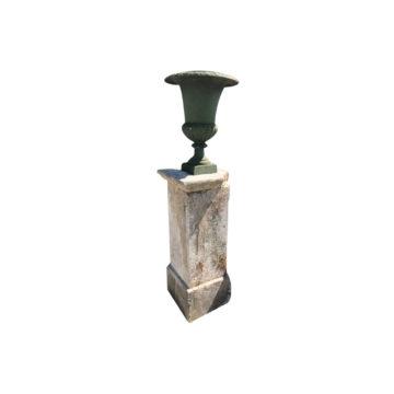 piedestal en pierre calcaire support de vase