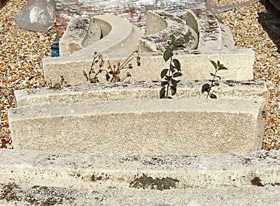 lot de bordures de bassin en pierre calcaire