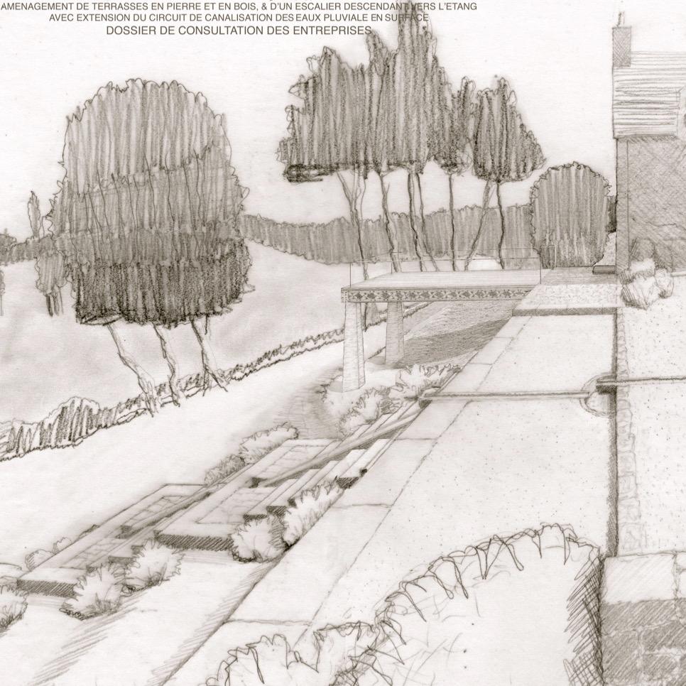 croquis et dessin du projet bca materiaux de ferme