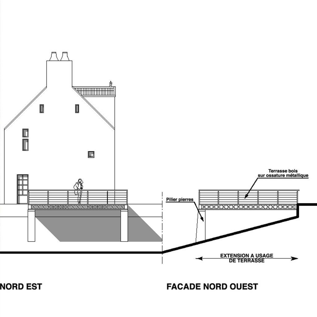 schema de plan renovation terrasse plancher wagon