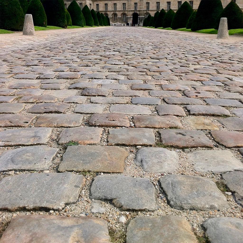 pavage ancien et historique en pierre