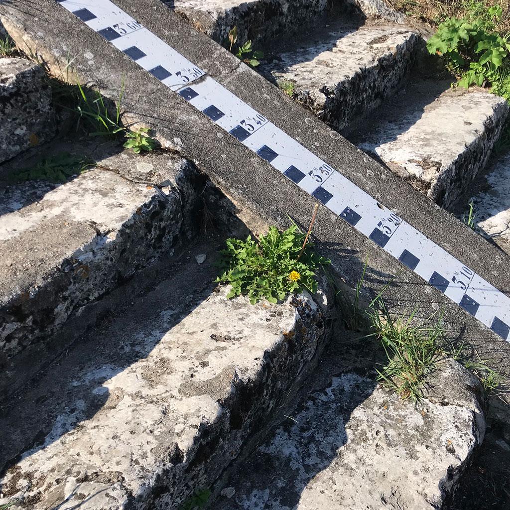 mesure de la montée des eaux des marches
