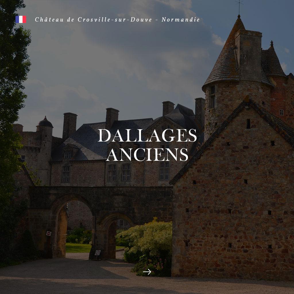 dallages anciens au château de crosville-sur-douve