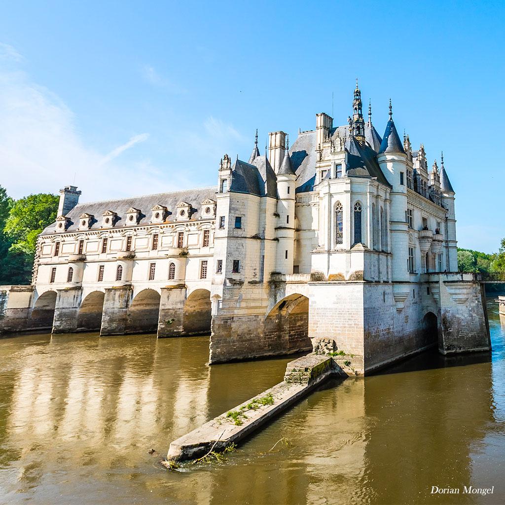 Chateau de Chenonceau extérieur rivière