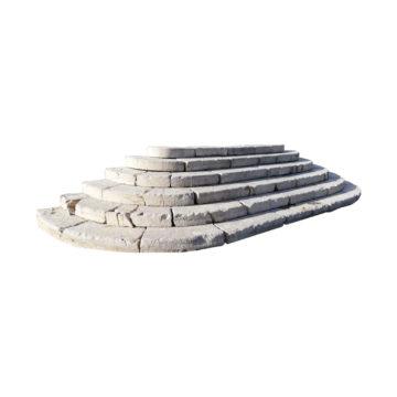 perron ancien en pierre calcaire