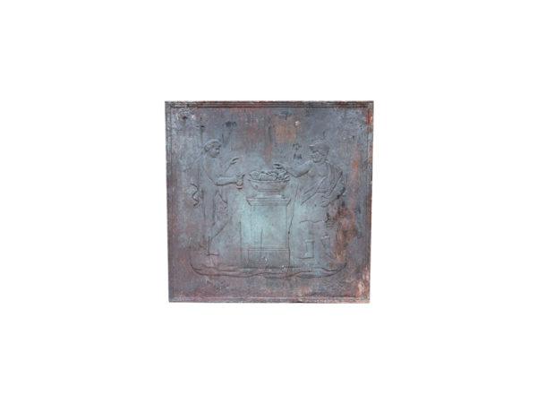 plaque de cheminée ancienne carré