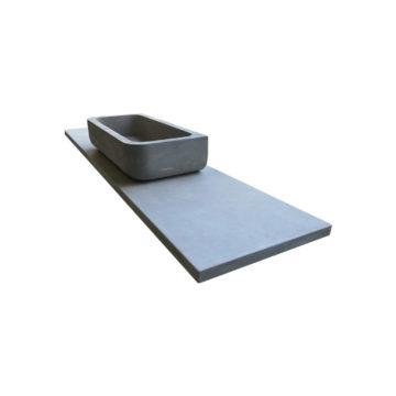 vasque et plateau en pierre argos gris
