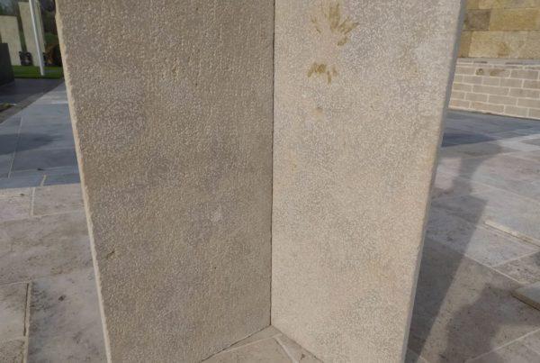 parement en pierre calcaire beige