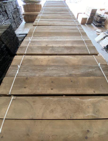 plancher en sapin ancien brossé