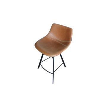 chaise haute en cuir