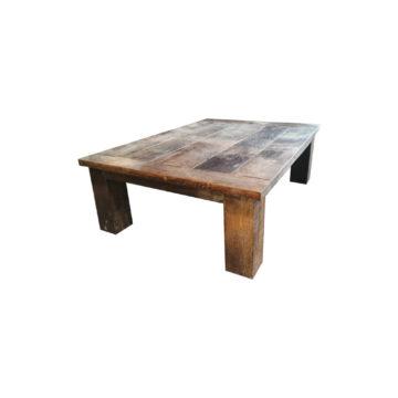 table basse en chêne de tonneau ancien