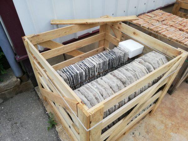 conditionnement du stock de dalle calcaire