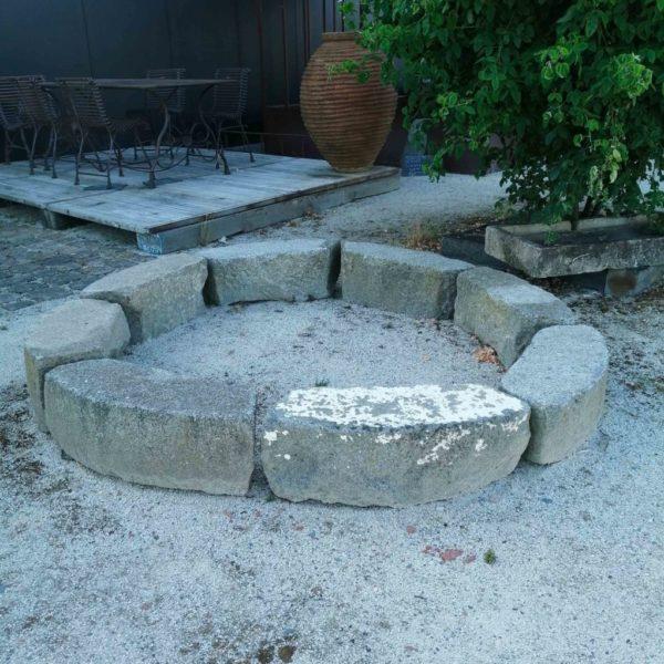pièces de granit ancienne pour tour d'arbre