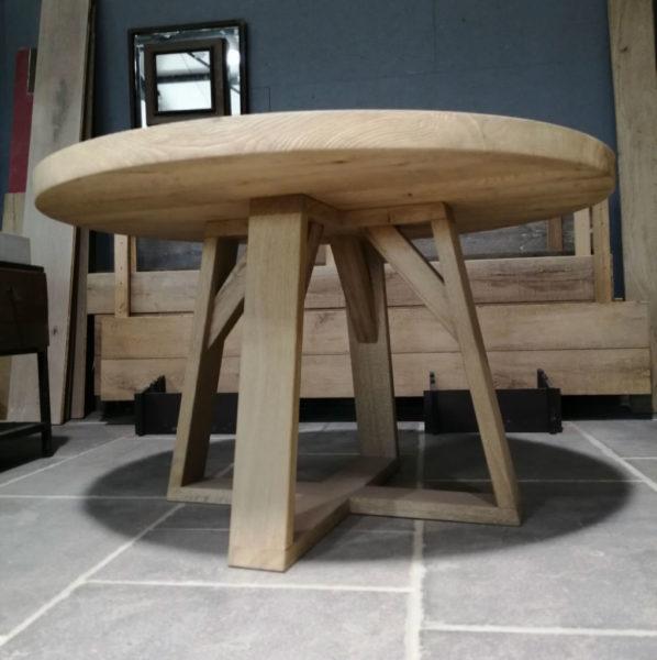 Pieds de table en chêne brossé