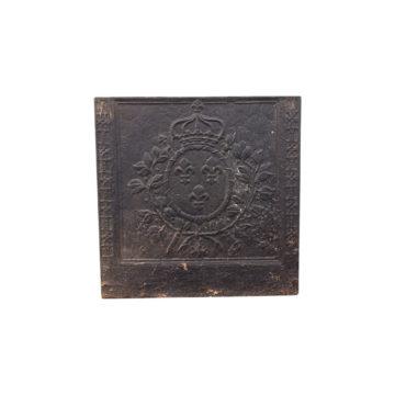 plaque ancienne avec médaillon central couronné
