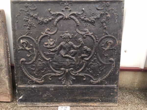 plaque de cheminée ancienne au décor chinois