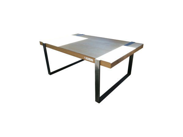 table basse metal bois arbre de fer