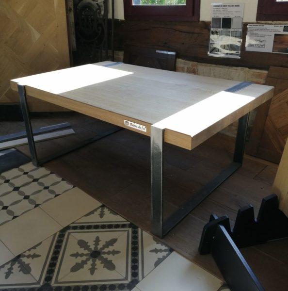 table basse métal en bois moderne
