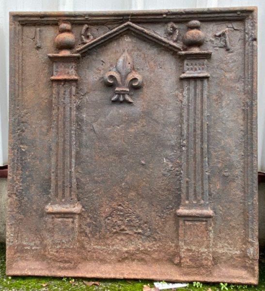 plaque de cheminée ancienne du XIXème