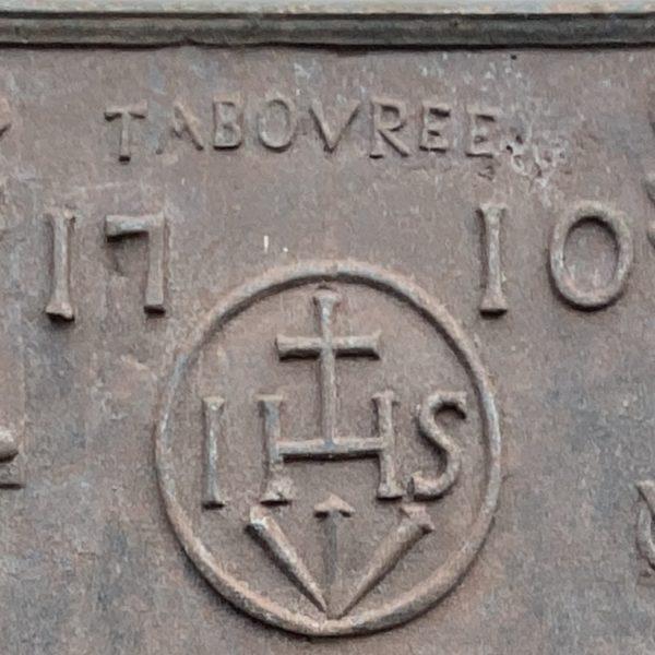 plaque de cheminée avec colonne d'hercule