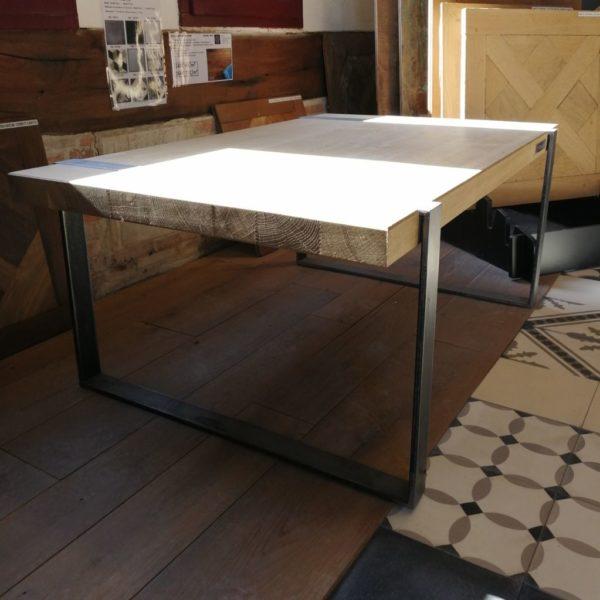 hauteur de la table metal et bois moderne