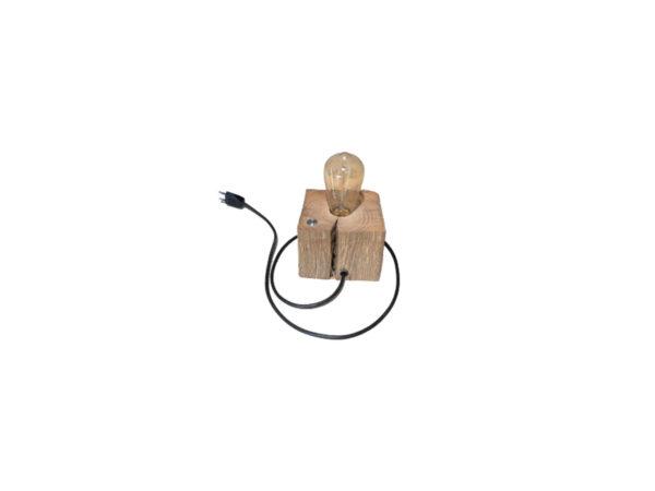 lampe sur base de poutre en chêne