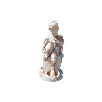 statue femme baigneuse en fonte