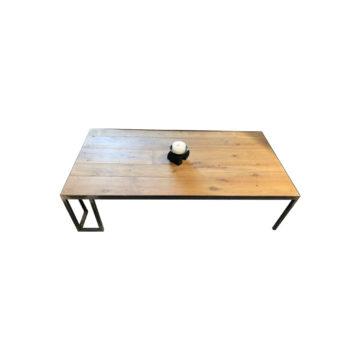 table basse moderne avec plateau en chêne