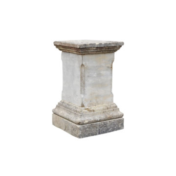 paire de stèles en pierre calcaire