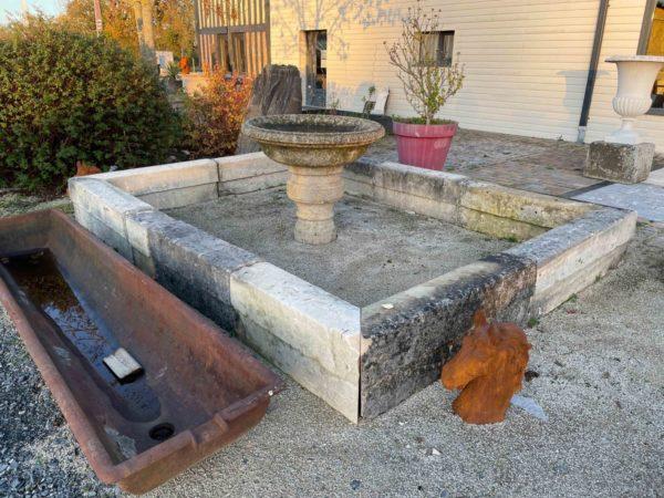bassin pour extérieur en pierre calcaire