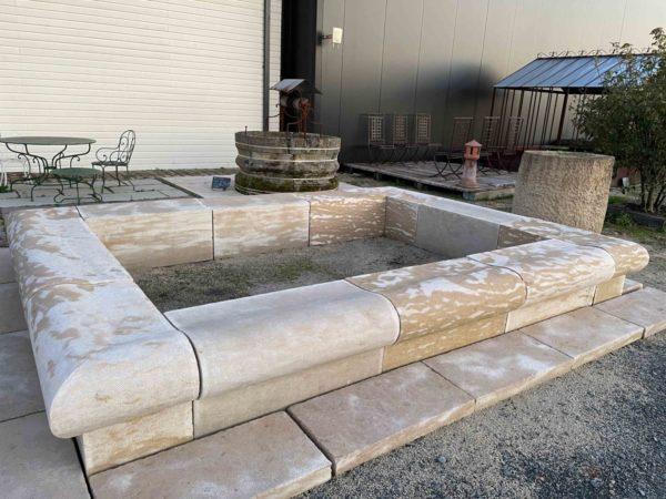 Pierre calcaire pour la création d'un bassin