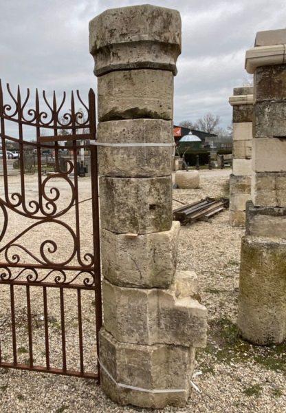 piliers ocotgone en calcaire français