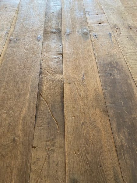 Photo de la surface brossé des planches