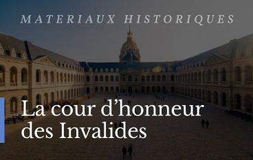 Matériaux au Invalides Paris