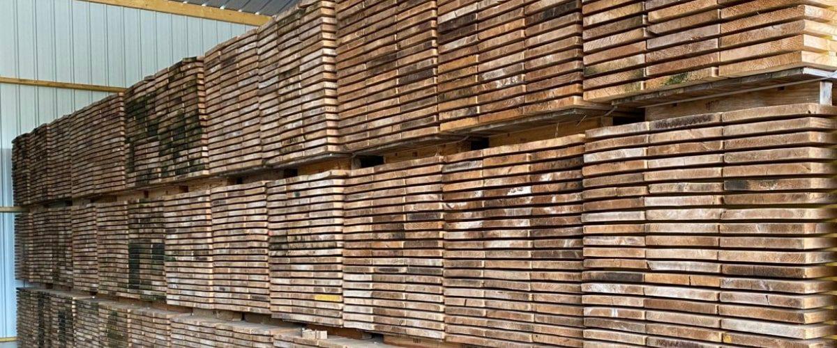 stock de planches en chene