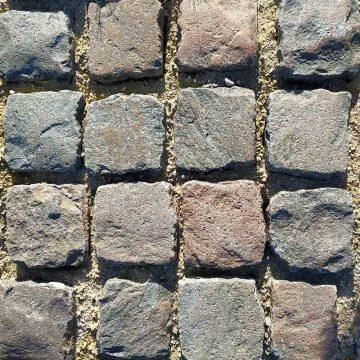 Pavé de porphyre en granit