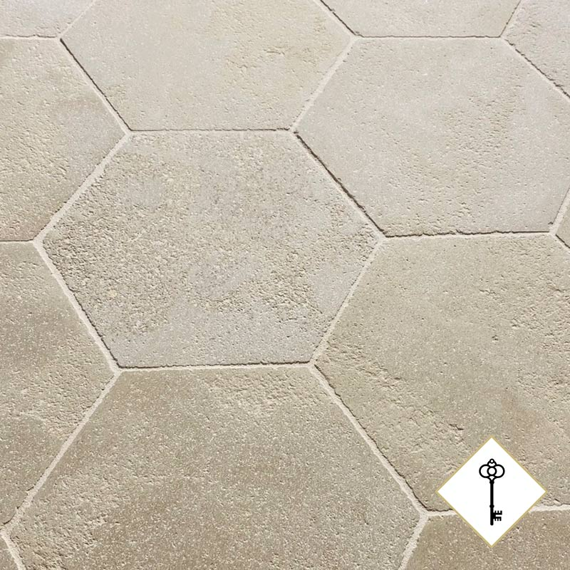 dallage hexagonal de la gamme patrimoine