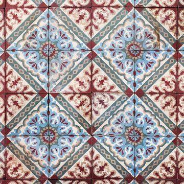 Lot de carreaux de ciment avec un motif floral