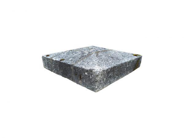 Paire de tête de pilier carré en Granit