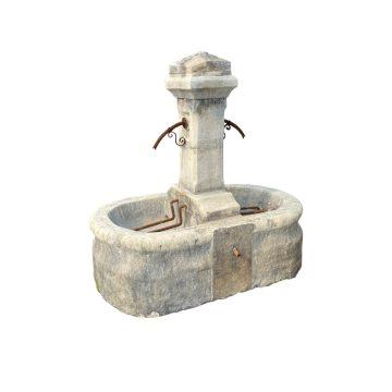 fontaine ancienne avec double bac